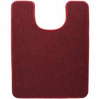 Электрический коврик подогрев для туалета  Теплик 55 х 70 см с термоизоляцией темно-красный