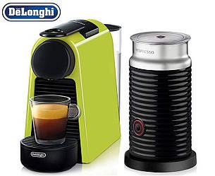 Кофемашина капсульная Nespresso Essenza Mini D30 Lime Green + Капучинатор Nespresso Aeroccino 3