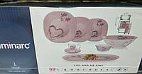 Carine You and Me Pink Сервиз столовый 69 пр. Luminarc P5645