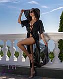 Пляжная туника в пол| 9 цветов 42-44, Черный, фото 4