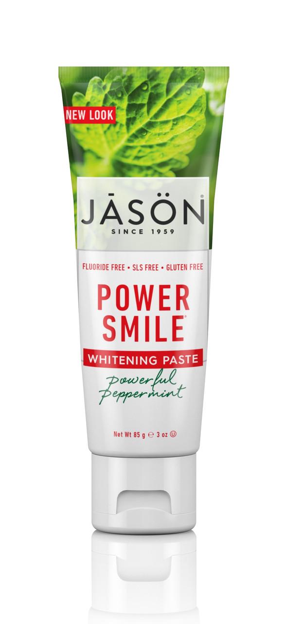 Зубная паста отбеливающая без фтора Powersmile, Jason