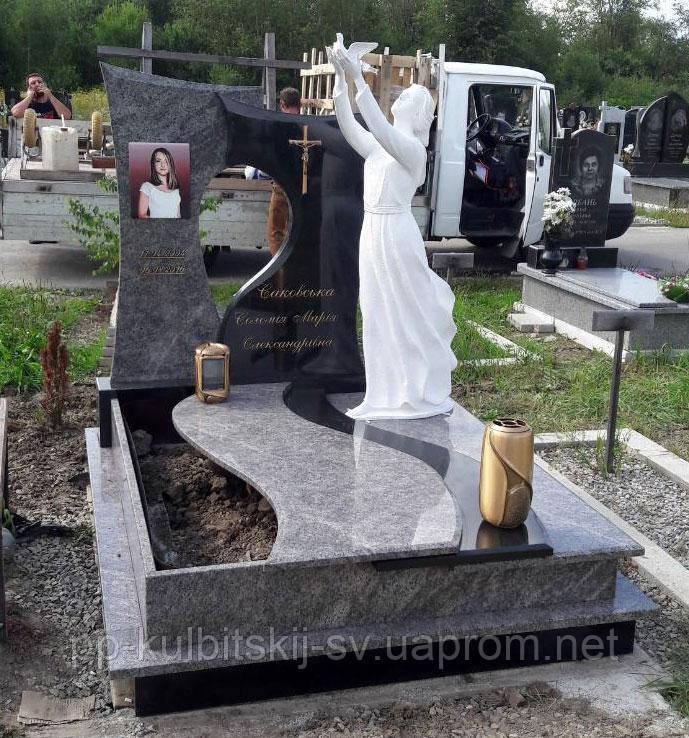 Пам'ятник надгробний Елітний одинарний з Ангелом S5000