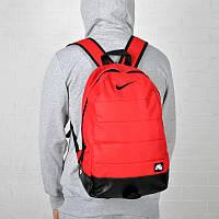 Городской спортивный рюкзак Nike Air красного цвета стильный качественный топ портфель Найк сумка 20л красный