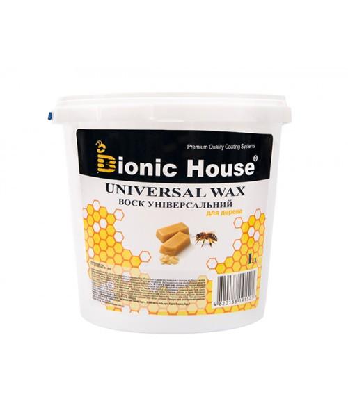 Воск универсальный (1л). Натуральный пчелиный воск с льняным маслом для дерева и мебели. Bionic House (Бионик)