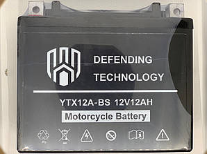 Аккумулятор мото 12Ач 12В Defending Technology YTX12A-BS