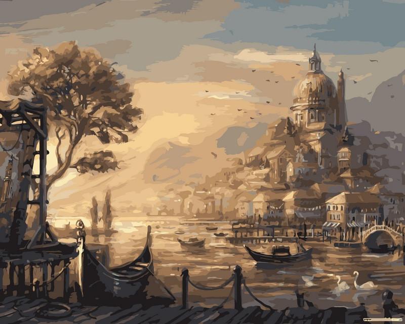 Картина по номерам 40×50 см. Babylon Вечерняя Венеция (VP-051)