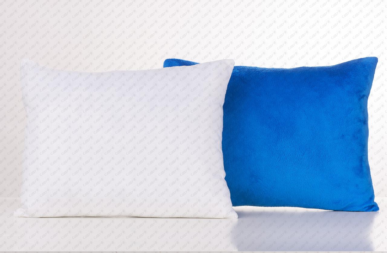 Подушка прямоугольник 35х45см. белый/ синий плюшевая для сублимации от производителя Украина