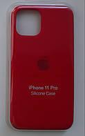 Чехол Apple Silicone Case Iphone 11 Pro (Red) Премиум качество