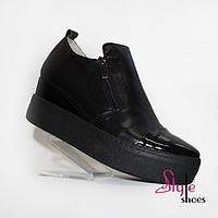 Туфли сникерсы женские из натуральной кожи