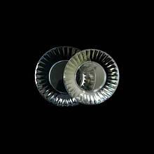 Тарелка одноразовая Ю d=20,5см прозрачная стекловидная 10шт Укр.