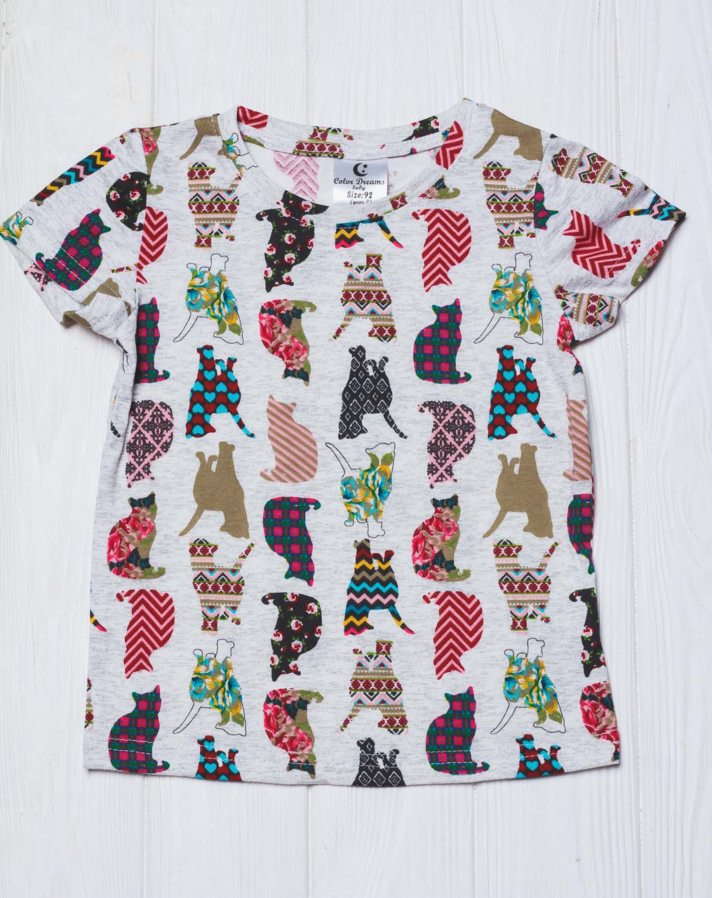 Хлопковая детская футболка с принтом Котики