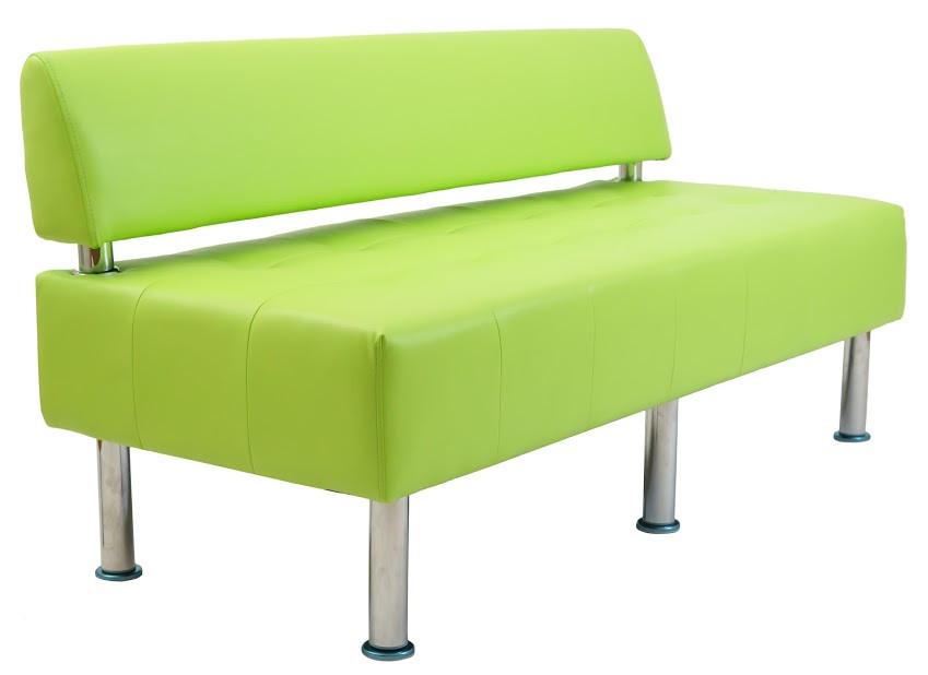 Диван Офис 155 см 2 кат со спинкой зеленый