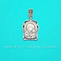 Серебряная ладанка Казанская икона Божией Матери