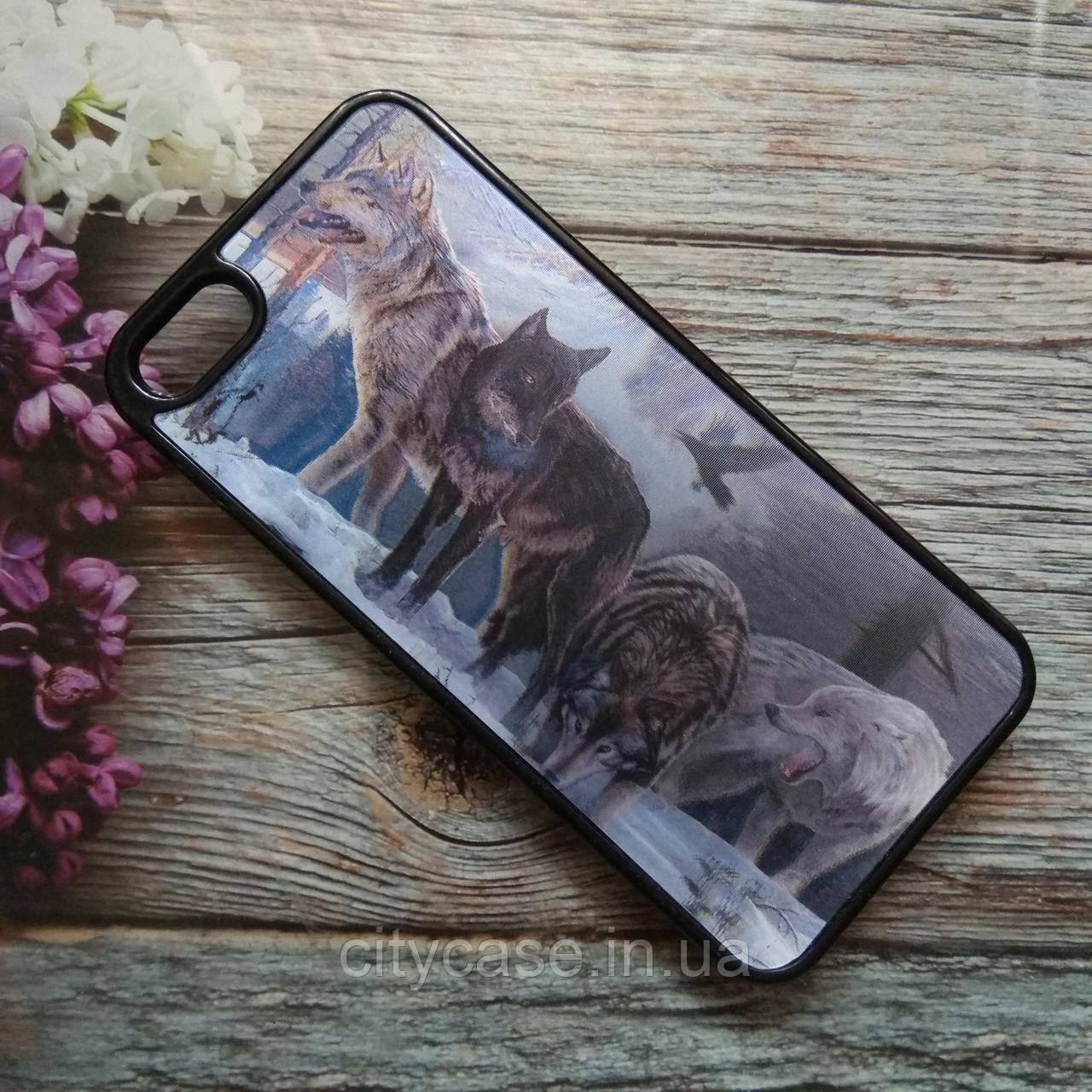 Чехлы для Iphone 5/5s с рисунком Стая волков