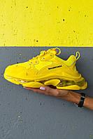 Женские кроссовки Balenciaga Triple S Neon Yellow. [Размеры в наличии: 36,39,40,41]