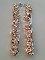 Металлический крабик с жемчугом золото