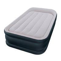 Односпальная надувная кровать Intex + встроенный электрический насос 99х191х42 см (64132)