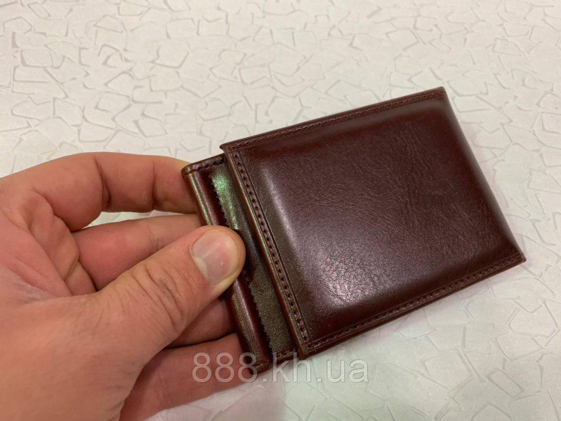 Мужской кожаный зажим для денег, кошелек,, портмоне, чоловічий гаманець, опт