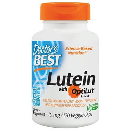 Lutein with OptiLut 10 mg Doctor's Best 120 Veggie Caps, фото 2