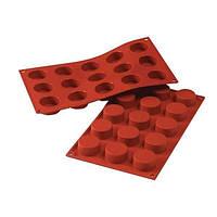"Форма для выпечки ""тарталетка"" 15 штук 20мл d4,5 см h1 см силикон Silikomart"