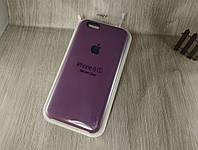 Оригинальный силиконовый чехол для Apple iPhone 6/6s фиолетовый (марсала) 43 color
