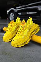 Мужские кроссовки Balenciaga Triple S Neon Yellow. [Размеры в наличии: 40,41,42,44,45]
