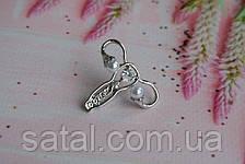 """Значок """"Гинеколог"""". Серебро (камни), фото 2"""