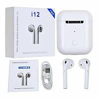 Беспроводные Bluetooth наушники I12 TWS Stereo белые!