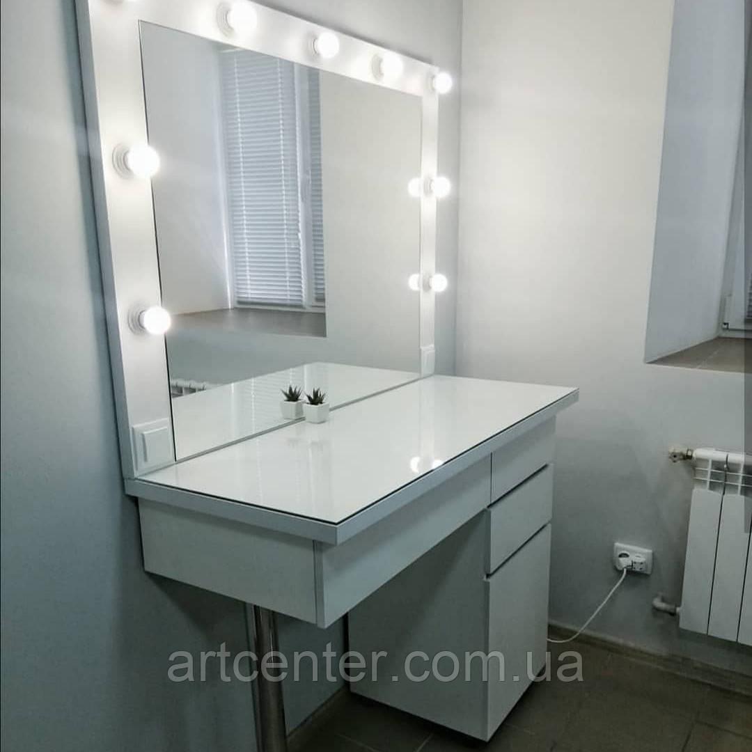 Рабочее место визажиста/парикмахера, стол для макияжа с зеркалом