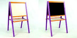 Мольберт 50*40 см фиолетово-оранжевый Игруша