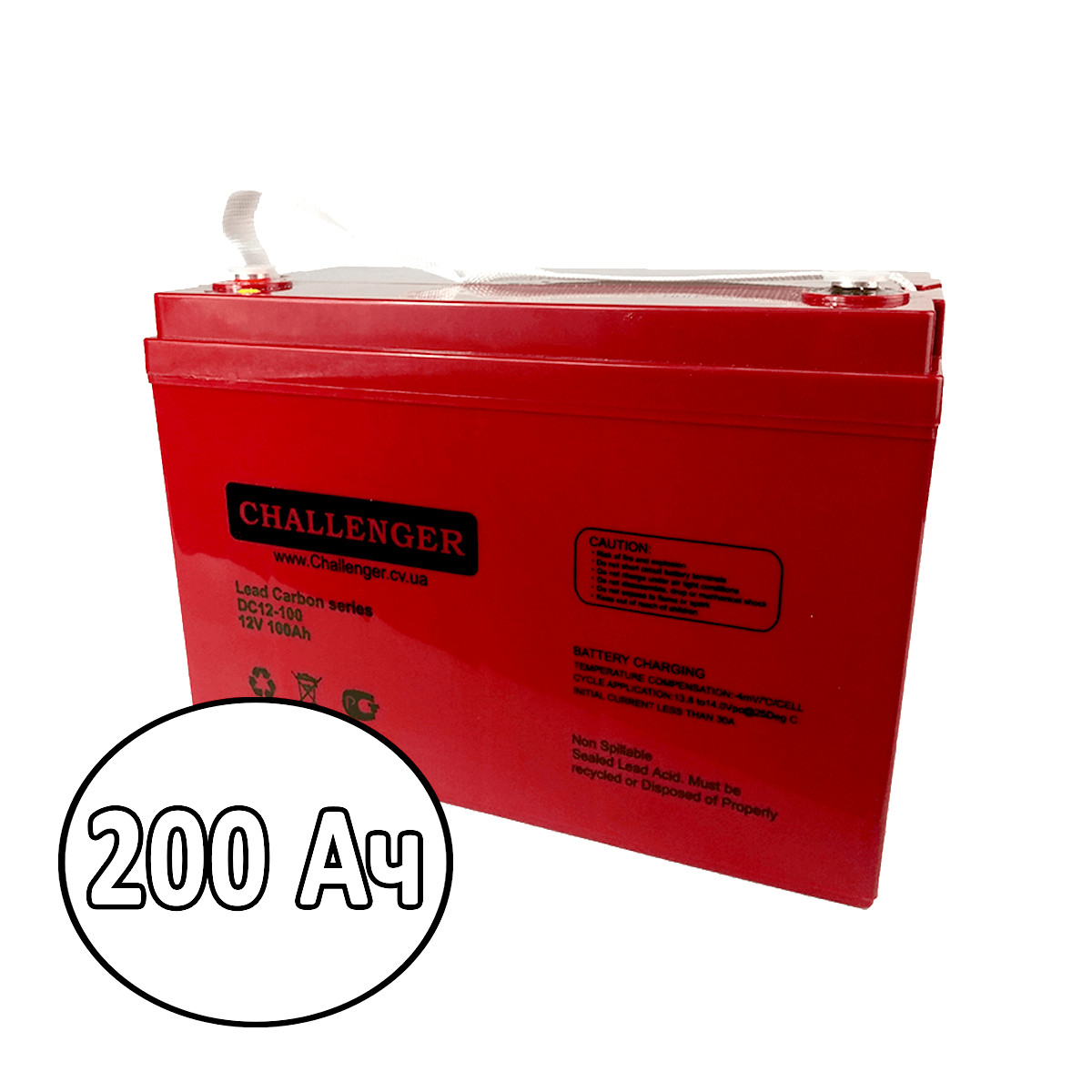 Карбоновый аккумулятор Challenger 200 Ач
