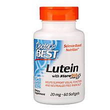 "Лютеин и зеаксантин Doctor's Best ""Lutein with FloraGlo"" для здоровья глаз, 20 мг (60 гелевых капсул)"