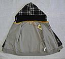 Детская кофта утепленная для мальчика на молнии с капюшоном черная р. 110-140 см (QuadriFoglio, Польша), фото 4