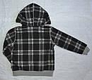 Детская кофта утепленная для мальчика на молнии с капюшоном черная р. 110-140 см (QuadriFoglio, Польша), фото 5