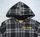 Детская кофта утепленная для мальчика на молнии с капюшоном черная р. 110-140 см (QuadriFoglio, Польша), фото 2