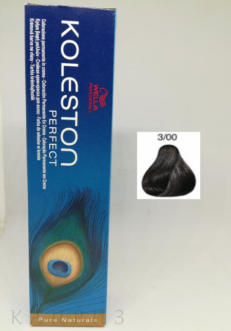 Крем-краска Wella Professionals Koleston Perfect 3/00, 60 мл