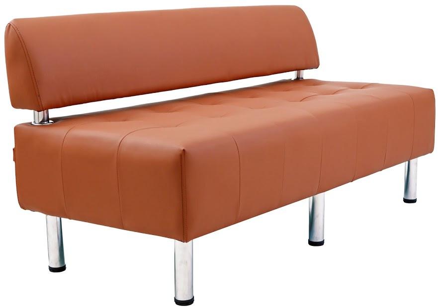 Диван Офис 155 см 1 кат со спинкой коричневый