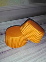 Бумажные формы для кексов оранжевые, 50 шт