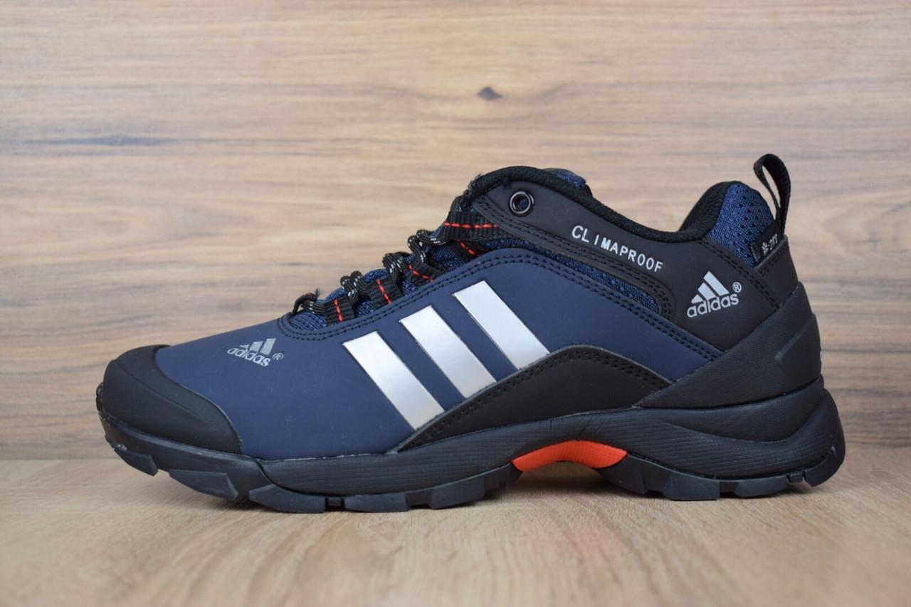 """Зимние кроссовки на меху Adidas Climaproof """"Синие"""""""""""