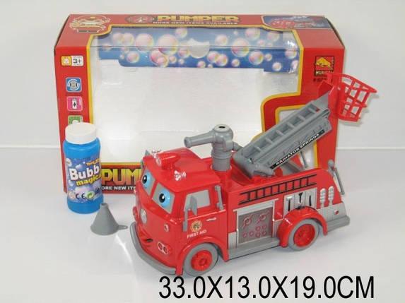 Машина пожарная, пускает мыльн. пуз., вращает глазами, музыка, свет, в кор. 33х13х19 /24-2/, фото 2