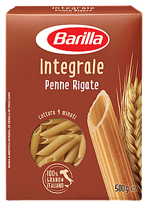 Макарони BARILLA Integrale PENNE RIGATE,500г,(14шт/ящ)