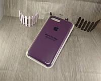 Оригинальный силиконовый чехол для Apple iPhone 7 Plus фиолетовый (марсала) 43 color