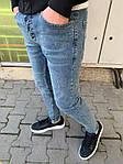 Мужские зауженные джинсы (голубые) - Турция, фото 2