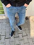 Мужские зауженные джинсы (голубые) - Турция, фото 3