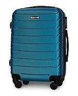 Малый чемодан 55х39х22 Ручная кладь на 4 колесах Fly 1107 Синий