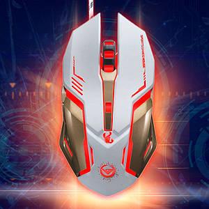 Мышь оптическая программируемая Rajfoo Scorpion Скорпион игровая. Белая