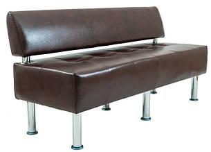 Диван Офис 155 см 2 кат со спинкой коричневый