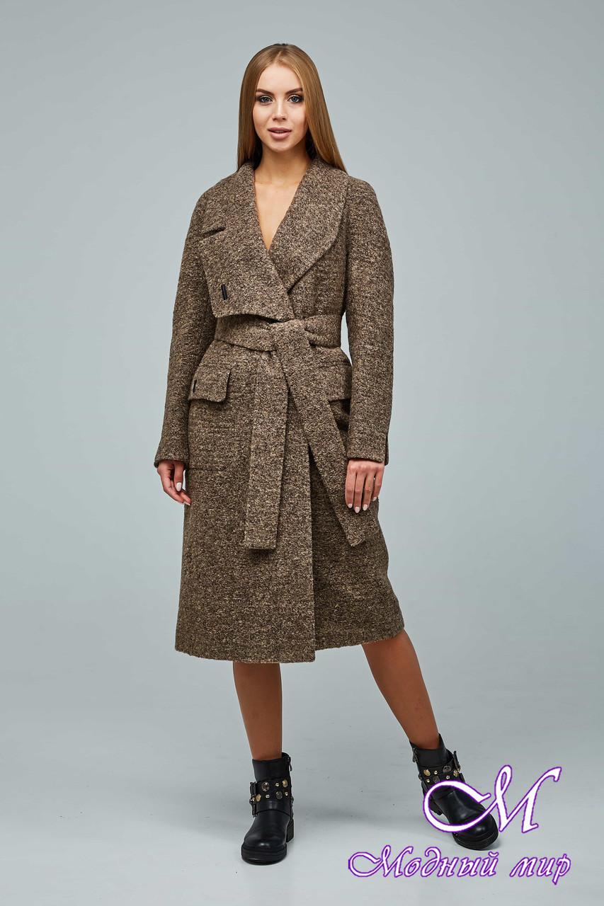 Женское демисезонное пальто большого размера (р. 44-54) арт. 1216 Тон 1018