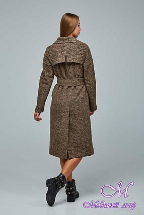 Женское демисезонное пальто большого размера (р. 44-54) арт. 1216 Тон 1018, фото 2