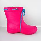 Розовые сапоги из пены ЭВА на слякоть и дождь р. 37, 39, 40, 41 Резиновые сапоги. Аналог Crocs, фото 2